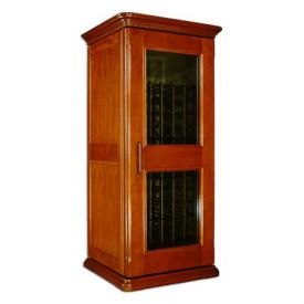 Enlarge Le Cache European Country Euro 1400 172-Bottle Wine Cellar - Provincial Cherry Finish