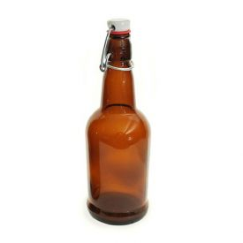 Enlarge EZ Cap 500ml Flip-Top Home Brew Beer Bottles - Amber (Case of 12)