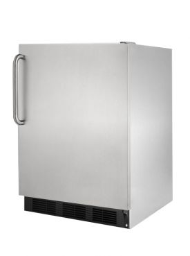 Enlarge Open Box - Summit FF7BCSS 5.5 cf Built-In Commercial Undercounter All Refrigerator - Stainless Cabinet and Door