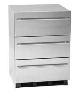 Enlarge Summit SP6DSSTBThin Stainless Steel 3-Drawer Refrigerator - Thin Handles