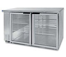 Enlarge Beverage-Air BB58G-1-S Back Bar Refrigerator w/Glass Doors - Stainless Steel