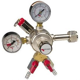 Enlarge 642-2 Premium Dual Gauge Co2 Keg Beer Regulator with Air Splitter