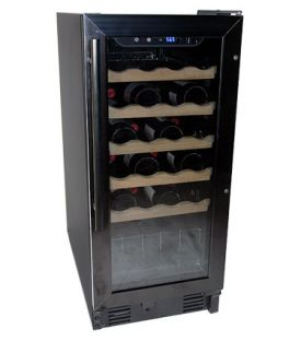 Enlarge Haier HVCE15DBH 26 Bottle Black Built-in Wine Refrigerator