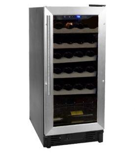 Enlarge Haier HVCE15BBH 26 Bottle Built-in Wine Refrigerator with Stainless Steel Door