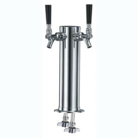 Enlarge Double Tap Stainless Steel Draft Beer Tower - 100% Stainless Steel Contact
