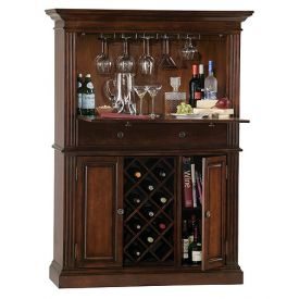 Enlarge Howard Miller 690-006 Seneca Falls Hide-A-Bar Wine & Spirits Cabinet