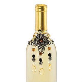 Enlarge Jeweled Flower Wine Bottle Jewelry