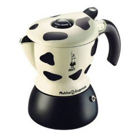 Enlarge Bialetti 06989 Mukka Express 2-Cup Coffee Maker - Cow Print