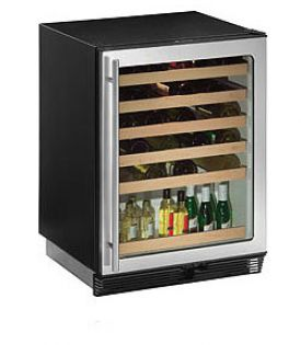 Enlarge U-Line 1075WCS-00 Wine Captain 48-Bottle Wine Cooler - Right Hinge