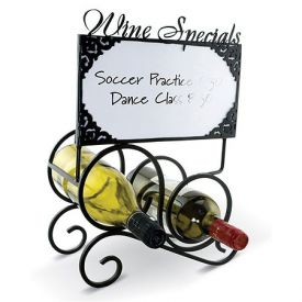 Enlarge Bella Notizia Chalk Board & Dry Erase Set Wine Rack