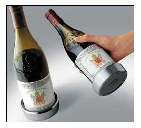 Enlarge Vacu Vin Stainless Steel Wine Bottle Coaster