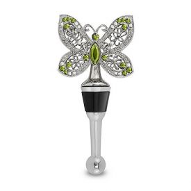 Enlarge Garden Jeweled Butterfly Wine Bottle Stopper
