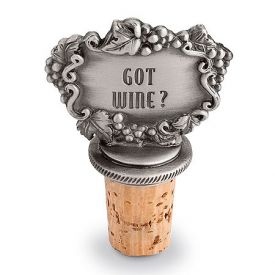 Enlarge Got Wine? Pewter Bottle Stopper