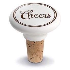 Enlarge Cheers Ceramic Wine Bottle Stopper