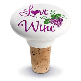 Enlarge Love Ceramic Wine Bottle Stopper