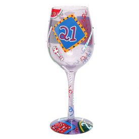 Enlarge 21 At Last Wine Glass by Lolita Love My Wine Stemware Collection