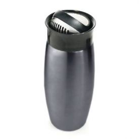 Enlarge Metrokane 2714 Flip-Top Grey Cocktail Shaker w/ Built-In Strainer, 0.7 L