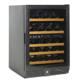 Enlarge N'Finity 50 Bottle Wine Cellar Refrigerator - Black Cabinet with Black Door