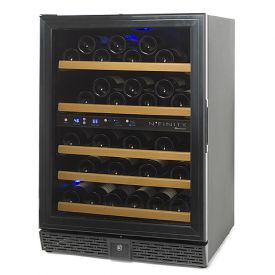 Enlarge N'Finity 50 Bottle Wine Cellar Refrigerator - Black Cabinet with Black Door - Left Hinge Door