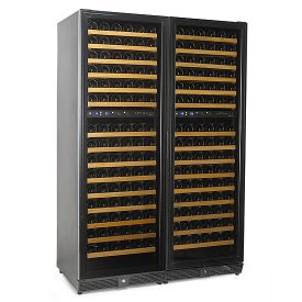 Enlarge N'Finity 340 Bottle Multi-Temp Wine Cellar - Black Cabinet with Black Door