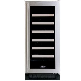 Enlarge Marvel 30WCM-BS-G-RL 23-Bottle Wine Cooler w/MicroSentry - Stainless Steel Door