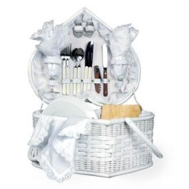 Enlarge Picnic Time Wedding Heart Picnic Basket for Two