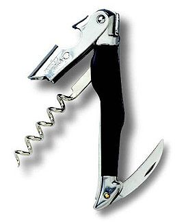 Enlarge C�page Laguiole Waiter's Corkscrew - Black Horn