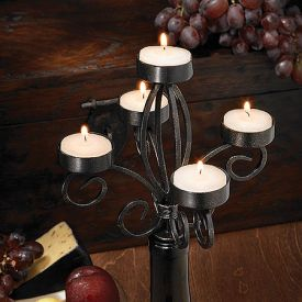 Enlarge Scroll Wine Bottle Candelabra