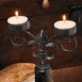Enlarge Fleur De Lis Wine Bottle Candelabra