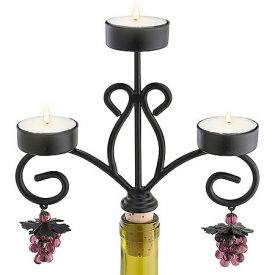 Enlarge Chateau Wine Bottle Candelabra