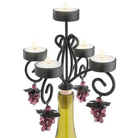 Enlarge Bordeaux Wine Bottle Candelabra
