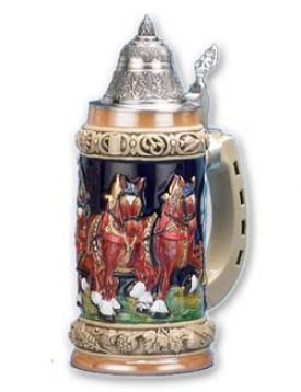 Enlarge Bavarian Beerwagon Beer Stein