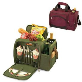 Enlarge Malibu Tote Cooler for Two - Burgundy / Burgundy Grapes Linens
