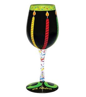 Enlarge 50 and Fabulous Wine Glass by Lolita Love My Wine Stemware Collection
