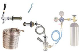 Enlarge Build Your Own 50' Jockey Box Portable Coil Conversion Kit - Left Faucet Mount