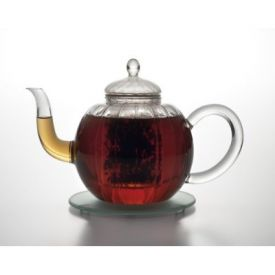 Enlarge BonJour 53749 C�leste 34-oz. Glass Teapot Set w/ Creamer & Sugar, Glass Infuser