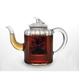 Enlarge BonJour 53750 Ad�le 27-oz. Glass Teapot with Glass Infuser