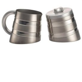 Enlarge BonJour 53774 Montano Sugar & Creamer Set - Double Wall Stainless Steel