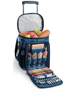 Enlarge Avalanche Picnic Cooler on Wheels - Navy