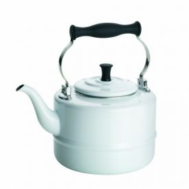 Enlarge BonJour 53869 Porcelain Teakettle, Vintage Design, White - 2 Qt.