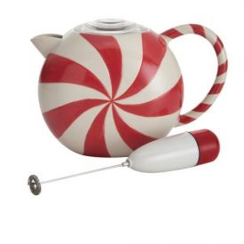 Enlarge BonJour 53874 32-oz. BonJour Peppermint Swirl Hot Chocolate Pot