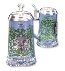 Enlarge Ireland Glass Beer Stein