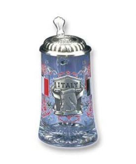 Enlarge Italy Glass Beer Stein