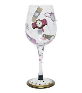 Enlarge It's 5 O'Clock Somewhere Wine Glass by Lolita Love My Wine Stemware Collection