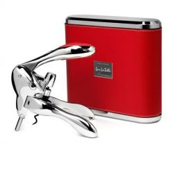 Enlarge Metrokane 6095 VIP Rabbit Lever-Style Wine Opener - Red Leather