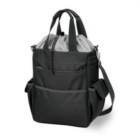 Enlarge Picnic Time Activo Waterproof Insulated Cooler Tote - Black/Silver