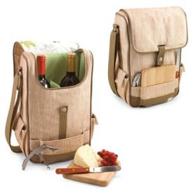 Enlarge Picnic Time Duet Botanica 2 Bottle Wine & Cheese Tote