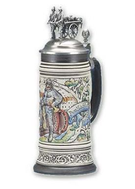 Enlarge 1800's Steam Fire Engine Beer Stein