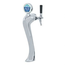 Enlarge 6601-C-A-M Sexy Beer Tower, 1 Faucet, Chrome Finish, Air Cooled, Illuminated Medallion