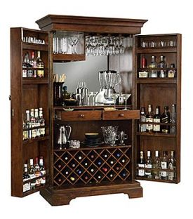 Enlarge Howard Miller 695-064 Sonoma Hide-A-Bar Wine & Spirits Cabinet